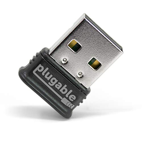 Plugable USB Bluetooth Adapter, 4.0 Low Energy, Micro (kompatibel mit Windows 10, 8.1, 8, 7, Raspberry Pi, Linux, Stereokopfhörer & klassischem Bluetooth)