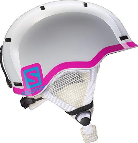 Salomon, Junior unisex Allround-Ski- und Snowboardhelm, In-Mold-Schale+EPS, Gr. M, Kopfumfang 53-56 cm, GROM, Weiß/Pink, L37773500