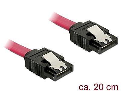 DeLOCK Câble de connexion SATA 6Gb/s avec clip métal, 20cm, [82675] + Power SATA HDD à 4broches mâle par DeLock