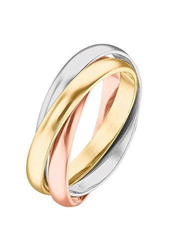 CHRIST Gold Damen-Ring Tradition 585 585er Gelbgold, 585er Weißgold, 585er Rotgold gold, 54 (17.2)