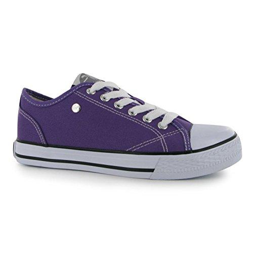 Dunlop Damen Canvas Sneaker Turnschuhe Freizeit Sport Schuhe Leinenschuhe Lila