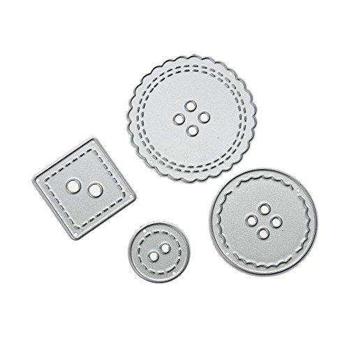 mikolot Button Metall Schablone DIY Scrapbook Craft Schneiden sterben