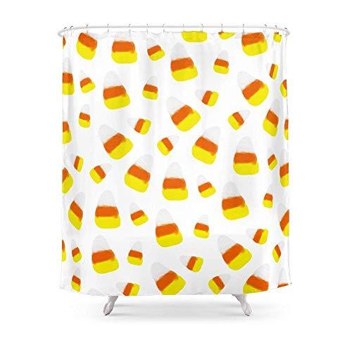 Suminla-Home Badezimmer Cute Halloween Candy Corn orange gelb Aquarell-Muster Vorhang für die Dusche 182,9cm von 182,9cm (Girl Baby-dusche-candy)