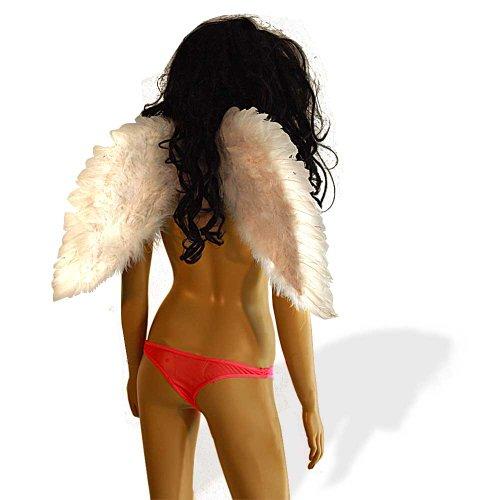 SL-Store GbR Engelsflügel Flügel weiß 45x60 cm Engel Fasching Halloween ()