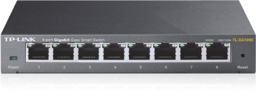 TP-Link TL-SG108E Easy Smart Switch Administrable 8 Ports Gigabit (Bureau, Boîtier Métal)
