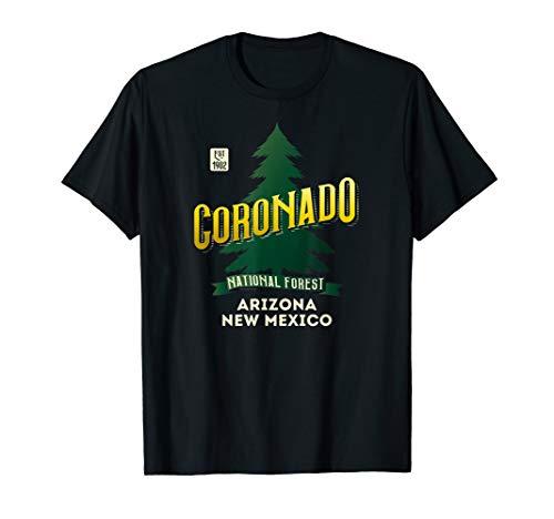 Coronado National Forest Retro Logo Arizona and New Mexico T-Shirt