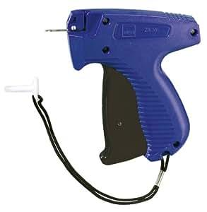 Sigel ZB301 Anschießpistole zur Warenkennzeichnung, fein, blau/schwarz, mit feiner Nadel Ø 1,5 mm, Kunststoff