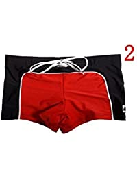 Men's swimming shorts blue navy red white