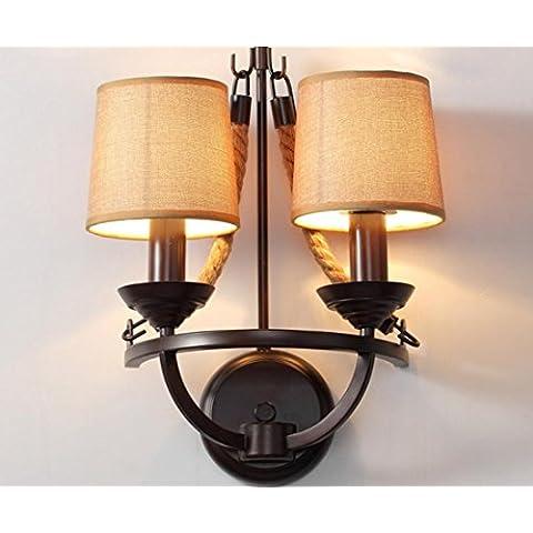 Retro lámpara jardín restaurante pasillo cuerda creativo noche lámparas de pared