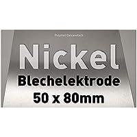 Nickel-Blech 50 x 80 mm, Reinnickel, als Anode/Elektrode (5 x 8 cm) für Nickelelektrolyt/Galvanik, Vernickeln, Nickelanode M