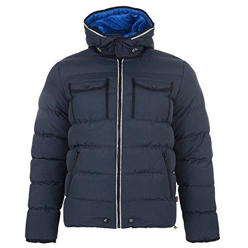 Gilet Hommes Bellfield Neuf Capuche Décontracté Mode Doudoune Sans Manche Chaud Hiver Manteau Bleu Marine