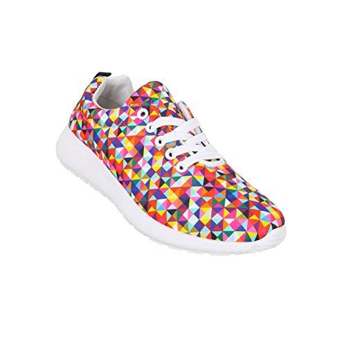 Damen Schuhe Freizeitschuhe Sneaker Slipper Rot