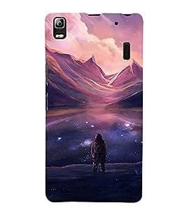 FUSON Ocean At Night With Stars 3D Hard Polycarbonate Designer Back Case Cover for Lenovo A7000 :: Lenovo A7000 Plus :: Lenovo K3 Note