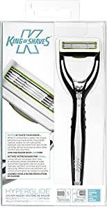 King of Shaves Hyperglide 5+1 Blade System Razor (includes 1 Handle, 1 Water Activated Cartridge, 1 Handle Holder and 1 Wall Sucker)