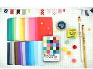 Ver.Solid couleurs de ruban adhésif décoratif autocollant Scrapbooking artisanat étiquetage Agenda Deco-- en étain