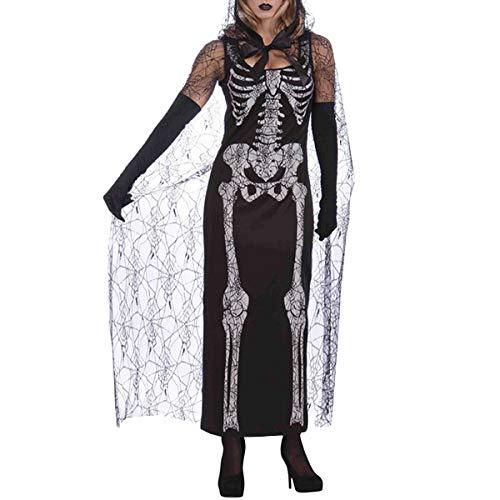 BESTOYARD Skelett Geist Kostüm Kampf Ausrüstung Halloween Urlaub Samurai Maskerade Kostüm Geist Kleidung Anzug für Frauen