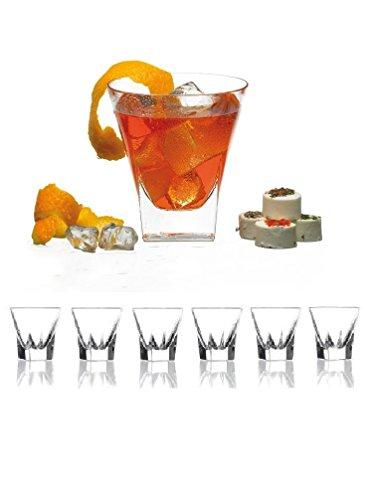 Set von sechs schwere Shot Glas perfekt für servieren Scotch, Whiskey, Tequila, oder Wodka (Set von 6Party Essentials-2oz Drink Shot Becher/Cups/Glencairn -