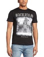 Burzum Men's Det Som Engang Var 2013 Banded Collar Short Sleeve T-Shirt