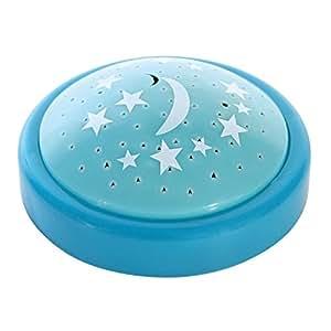 Veilleuse Bleu projection étoiles change de couleurs