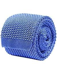 Bruce Field - Cravate fine en maille tricot de pure soie - Modèle 280