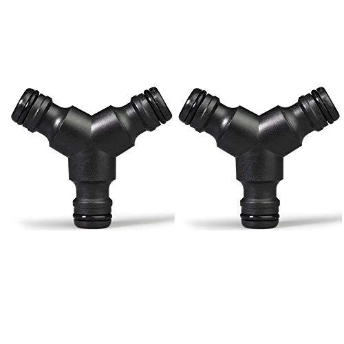 Topways® 2x Y-Stück: Verbindungsstück zur Schlauchabzweigung, Schlauchteiler Plastisch Hose Splitter (3 Way) Abzweig Verbinder Verbindungsstück zur Schlauchabzweigung,Anschluss im Schlauchverlauf
