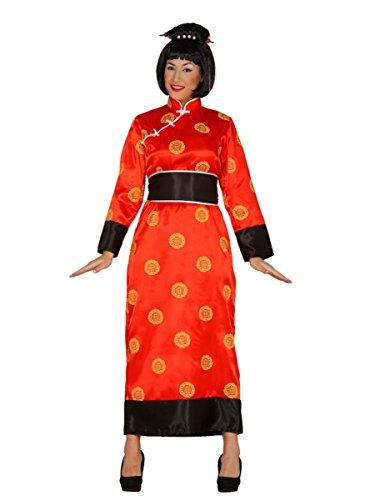 Kostüm Qipao Chinesische - Kimono China rotes Damen Kostüm Tunika Gewand in Gr. M - L, Größe:L
