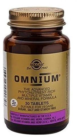 Solgar OMNIUM - 30 tablets - Advanced Phyto-nutrient, Multi-Vitamin & Mineral Formula, EU-Compliant