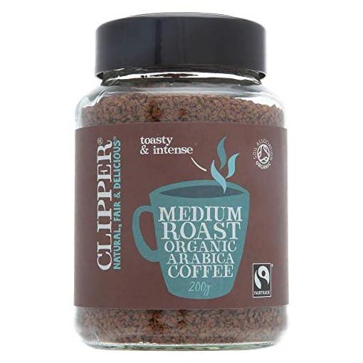 Clipper Fairtrade Organic Medium Roast Instant Coffee 200g (Pack of 6)