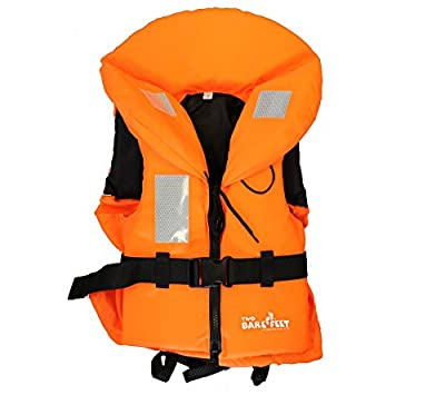 TBF 100N Life Jacket (Hi Vis Orange) Vest Buoyancy Aid by Two Bare Feet