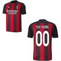 MAESTRI DEL CALCIO Maglia Gara Home A.C. Milan 2020/2021 Personalizzato Personalizzabile (Ibrahimovic, donnarumma, rebic, leao, Romagnoli) (L)