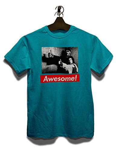 Awesome 46 T-Shirt Türkis