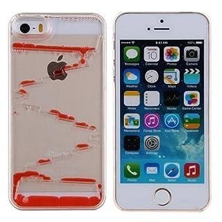 Abaure Schutzhülle für Apple iPhone 6 / 6S (Kunststoff, mit Flüssigmotiv) Rot