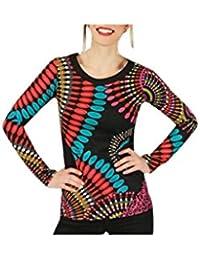 Aller Simplement - T-Shirt femme en coton à manches longues col rond Aller Simplement TS1122