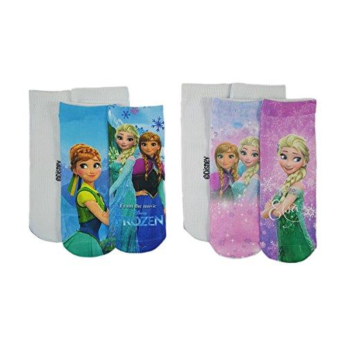 Girls Disney Frozen Socks 2 Pack in Pink or Blue
