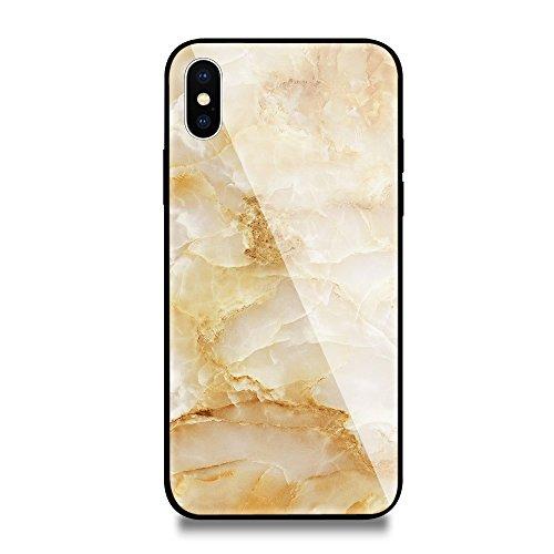inShang iPhone X Hülle neuer Entwurf-ausgeglichenes Glas-Kasten mit 9H + super Härte, starke Schlagfestigkeit, dünnes Case Cover iPhone X 2017 Unterstützt drahtloses Aufladen 06