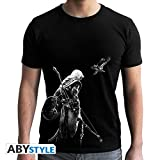 ABYstyle AmazonUkkitchen Abysse Corp_ABYTEX459 Assassin's Creed - Camiseta - Bayek - Hombre SS Negro - Nuevo ajuste, Unisex Niño