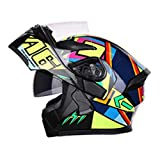 Harleeyr Männer Moto Helm mit Sonnenblende in Moto Equipment Double Lens Racing Helme no Angle 9028 M