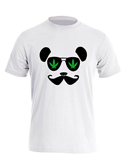 Hanfpanda - Herren T Shirt Weiß / Bunt
