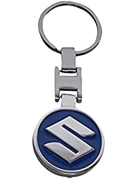 A & Y Traders Keychain Suzuki Stunning Metal Key Chain Accessories For Car Bike House Office Key Holder Best Quality-Blue-Round
