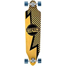 Osprey Longboard Bolt - Skateboard ( a cuadros, tablas ), color marrón, talla 40 Inch
