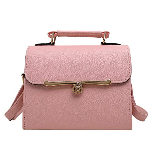 Euro-square-kissen (Dhyuen Frauen Wild Lady Schultertasche Diagonal Pack Turn Lock Portable Small Square Bag)