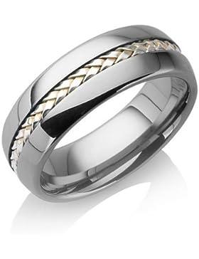 Tungstino Ring 'Silber Inlay' Wolframcarbid