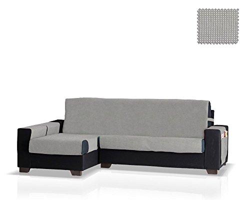 JM Textil Schoner für Ecksofa mit GEA Ottomane Links, Grösse Normal (245 cm.), Farbe Grau