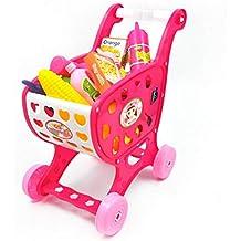 Eternitry Niños Carrito de Compras Trolley Niños Niñas Jugar rol Simulación Supermercado Tienda Accesorios Comida Frutas