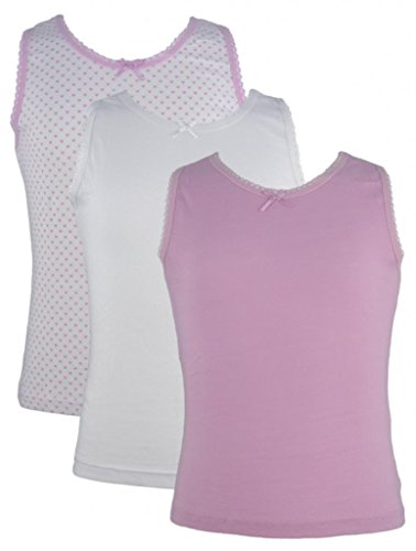9-Pack-of-Girls-100-Cotton-Vests-White-Pink