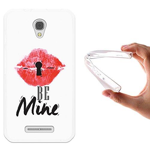 WoowCase Alcatel OneTouch Pixi First Hülle, Handyhülle Silikon für [ Alcatel OneTouch Pixi First ] Schlüssel Lippen Handytasche Handy Cover Case Schutzhülle Flexible TPU - Transparent