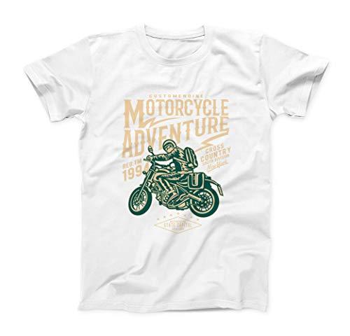 Sconosciuto Motorcycle Adventure Cross Country South Division T-Shirt - Uomo - Bianco - XXL