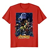 Marvel Avengers Infinity War Team Assemble Graphic Fiuywev Men T-Shirt-Red