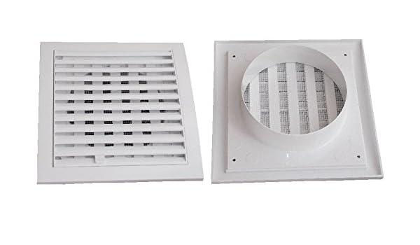 Air Ventilation Plastique Grille 190/mm x 190/mm r/églable Octagone Conduit//blanc