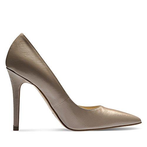ALINA escarpins femme cuir verni imprimé beige clair